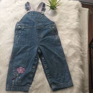 Carter's Baby Girl Denim Jumpsuit SZ 24M